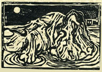 One Rock woodcut